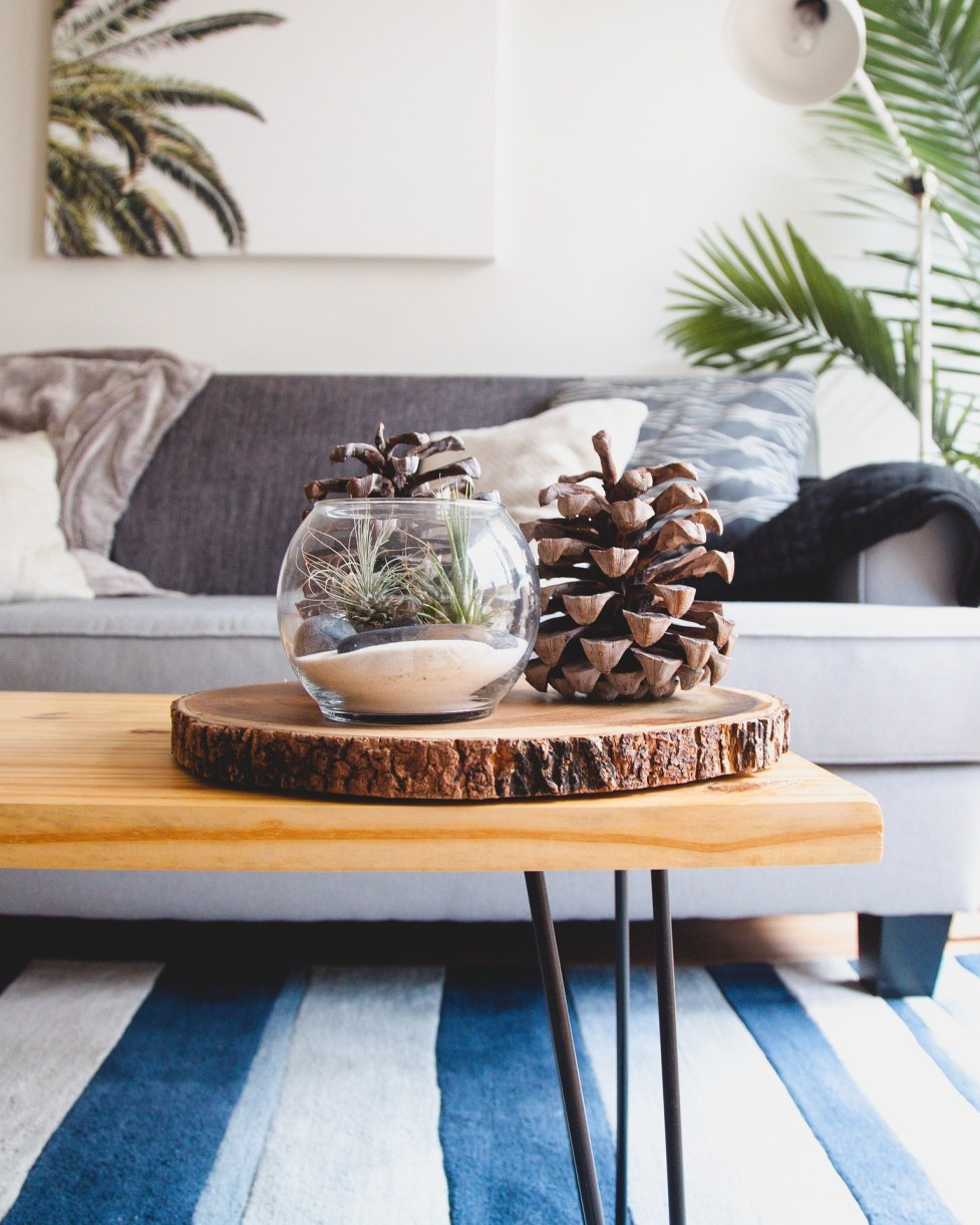 Have fun using accessories in your living room to make the space personal to you