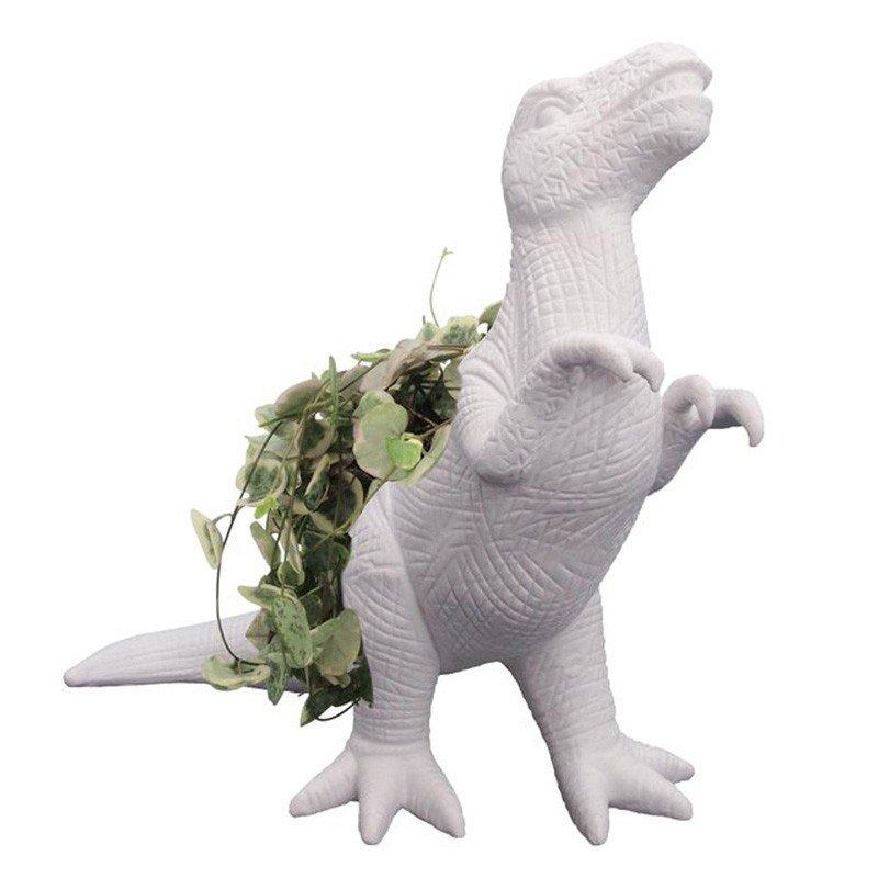 Why have a plain plant pot when you could have a dinosaur T-Rex plantosaurus?