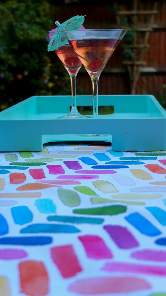 Colourful and contemporary garden textiles from Dekoria - perfect for a summer cocktail evening