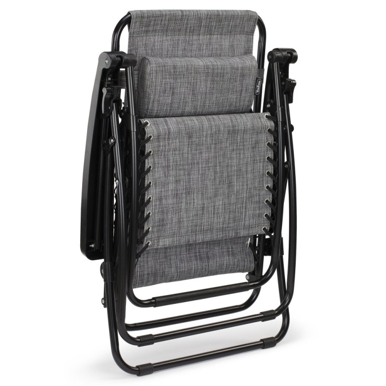 The VonHaus zero gravity chair from Domu folds up really well making it easy to store when it's not in use