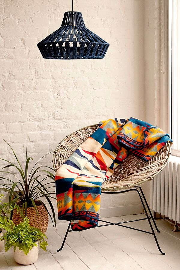 Love the casual boho style of this rattan chair