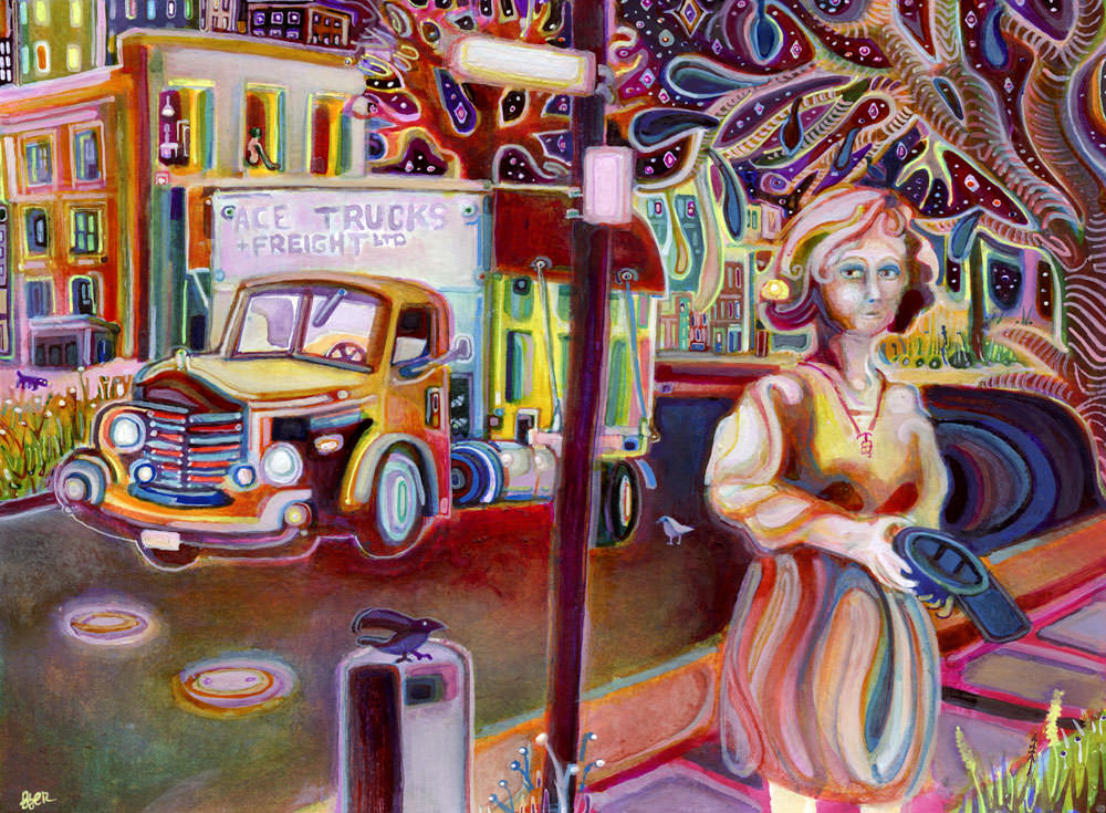 Stunning example of faux fauvism art by Josh Byer