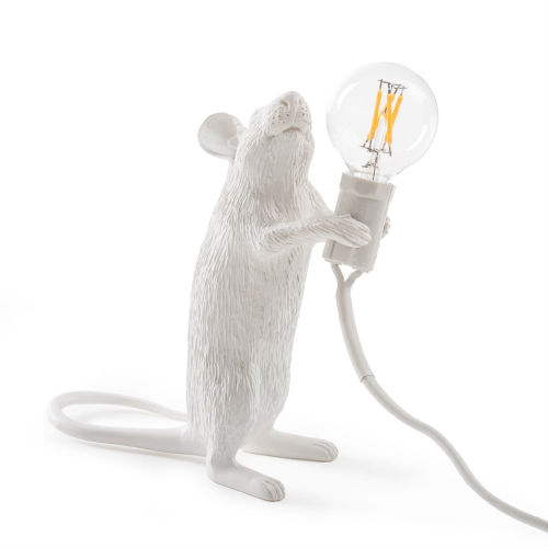 Animal themed standing mouse design lamp with quirky appeal