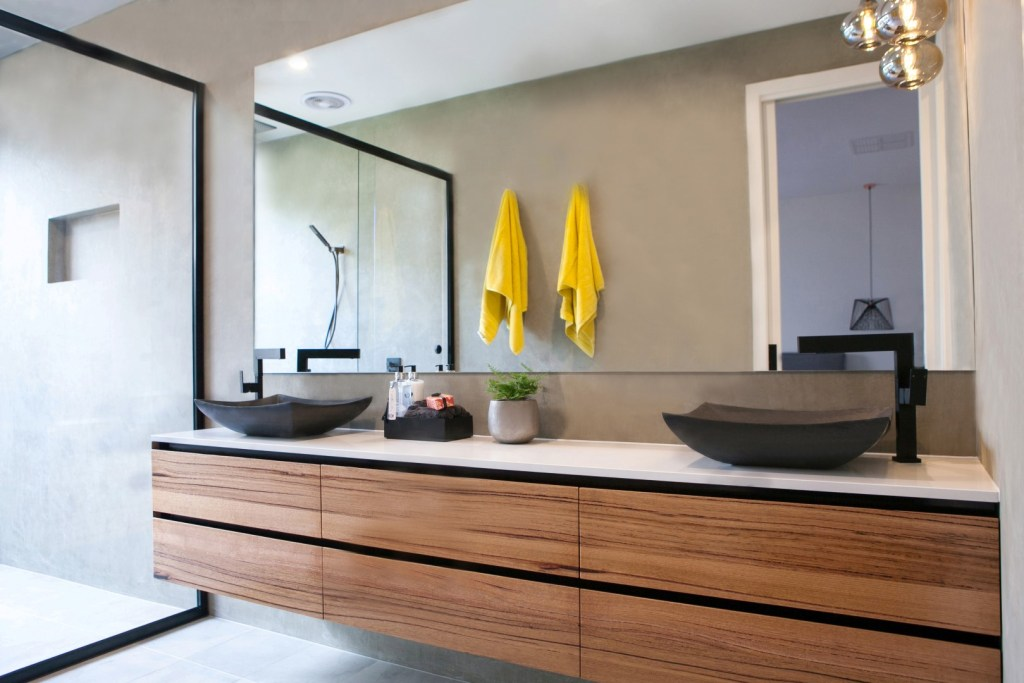 Matt finishes are on of the latest top trends for bathroom design