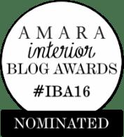 Fresh Design Blog nominated for an Amara Interior Blog Award 2016