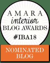 Fresh Design Blog nominated for an Amara Interior Blog Award IBA 2018