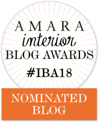 Fresh Design Blog nominated for an Amara Interior Blog Award IBA 2018