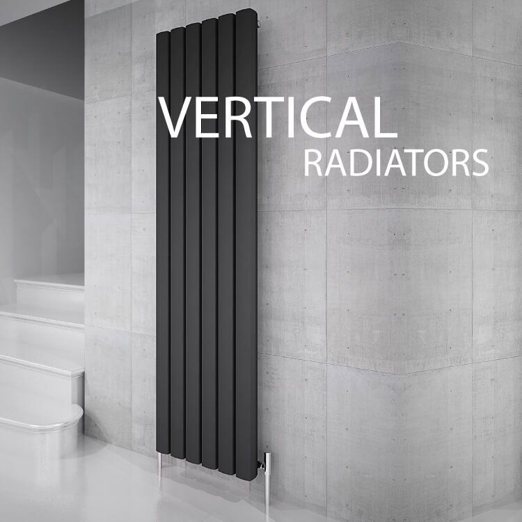 Update your bathroom with a contemporary black vertical radiator