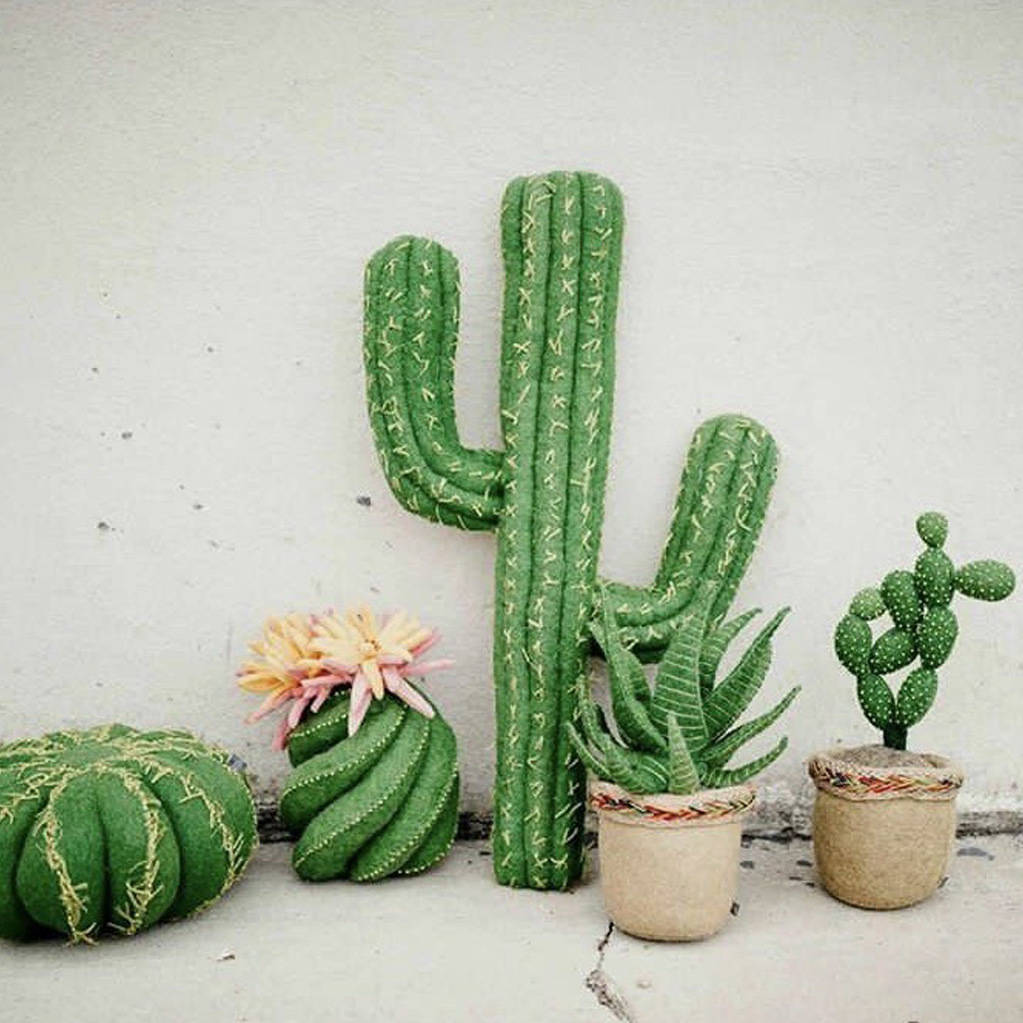 Wonderfully handmade realistic looking cactus ornaments