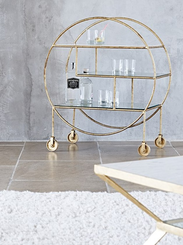 Stunning example of a luxury bar cart drinks trolley that's perfect for your home