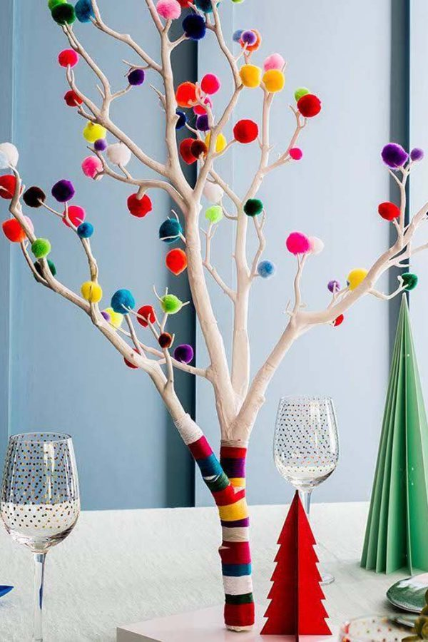 Colourful boho Christmas home decoration ideas