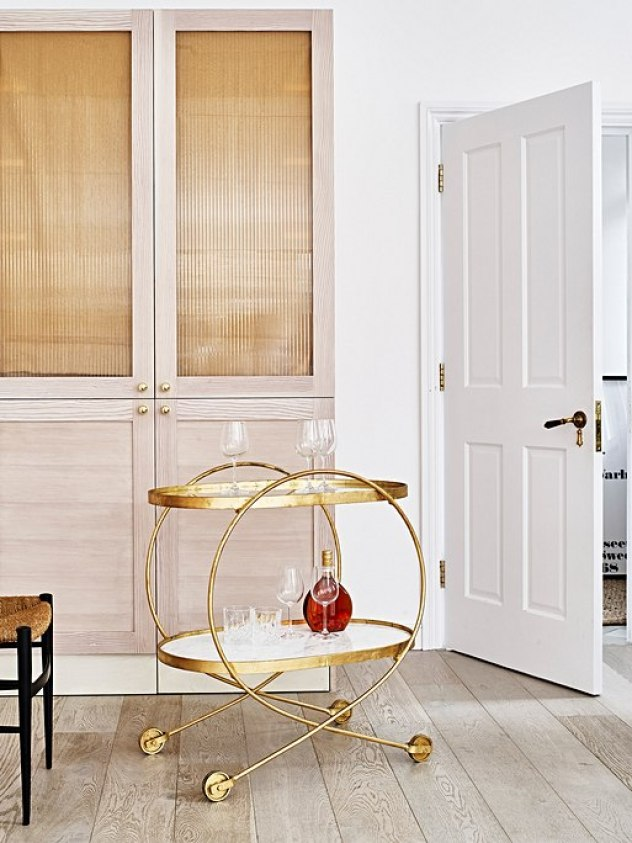 Stunning luxe loop design bar cart drinks trolley