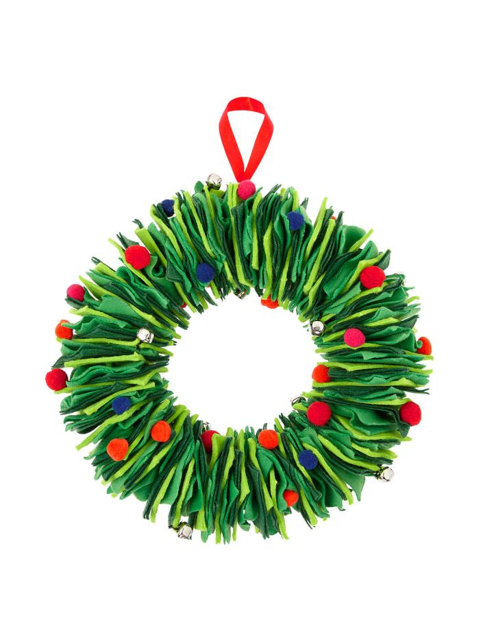 Love this cheery and bright contemporary felt layered wreath