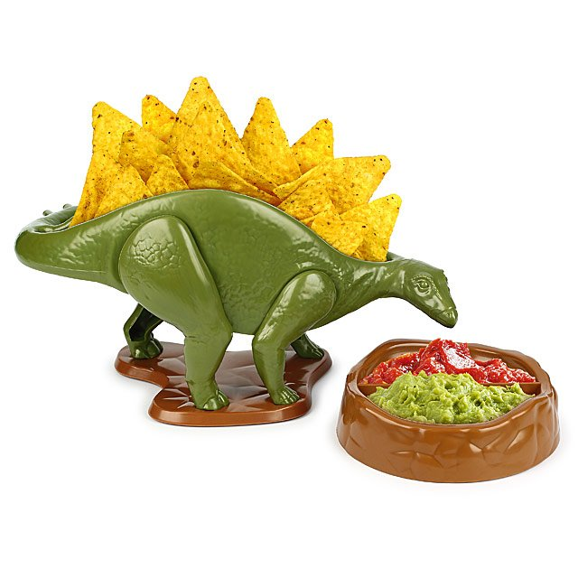 What a fun and quirky way to serve nachos and dips?!