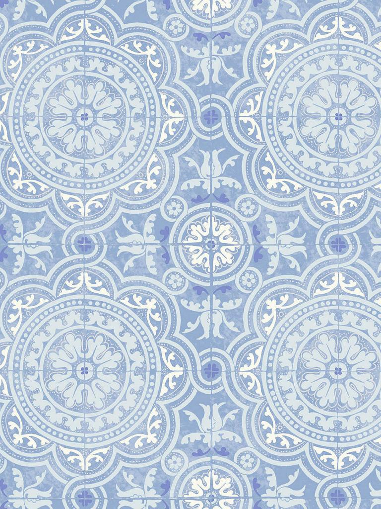 Create the look of traditional tiles on your walls with this blue and white Piccadilly design wallpaper