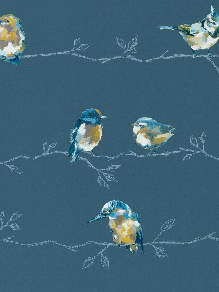Bring birds into your home with the standing ovation wallpaper from Harlequin