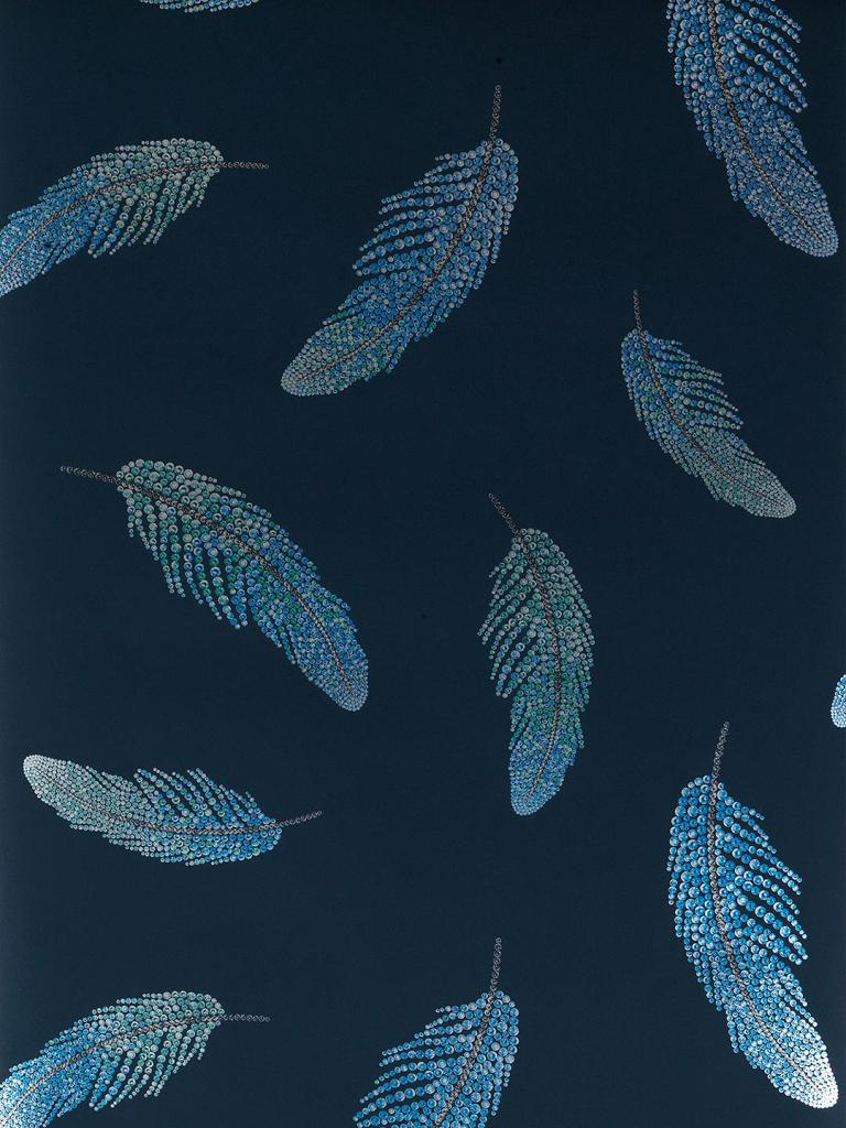 Decorate your walls with this stunning feather design wallpaper by Matthew Williamson