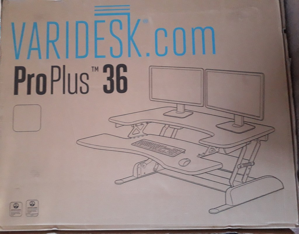 The Pro Plus 36 Varidesk lets you stand or sit at your desk - could it be the answer for your aching joints?