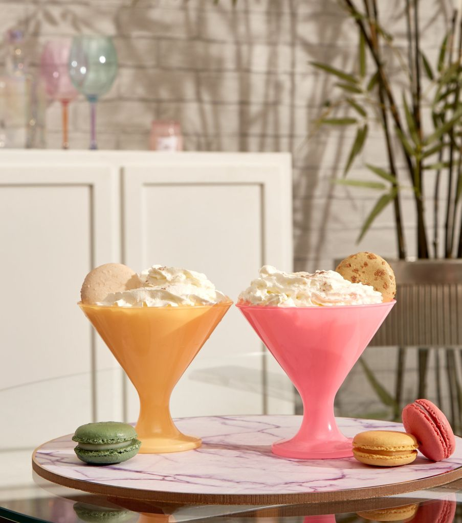 Serve desserts in style with these neon dessert bowls