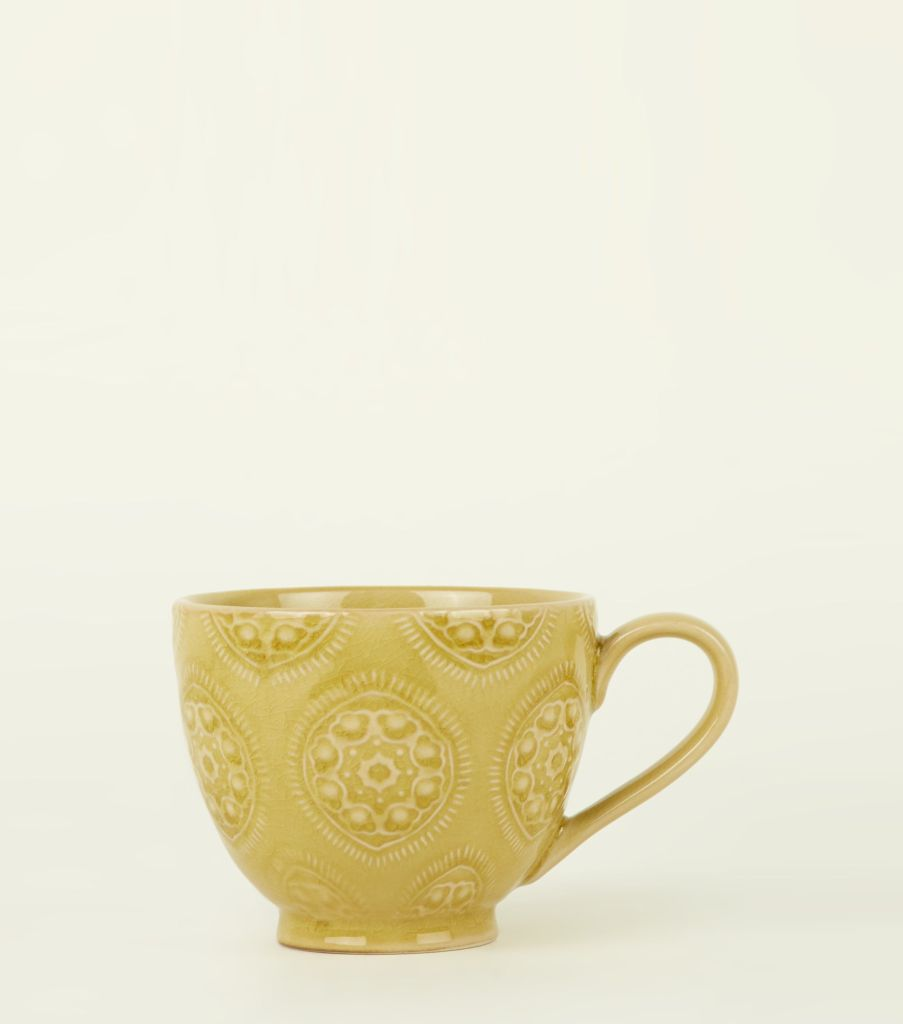 On trend yellow mug for your morning coffe
