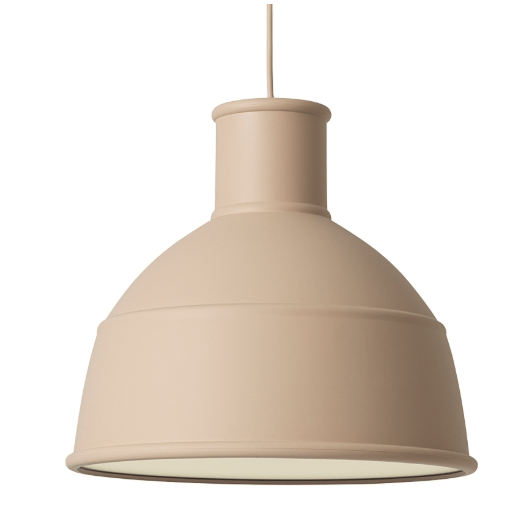 Decorate with nude tones in your home and add this nude pendant light