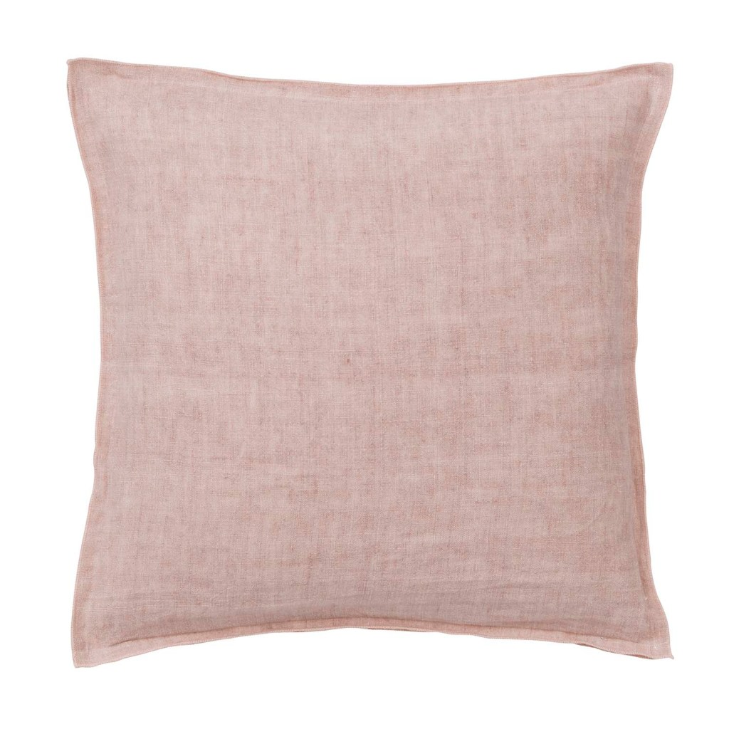 Gorgeous nude pink linen cushion