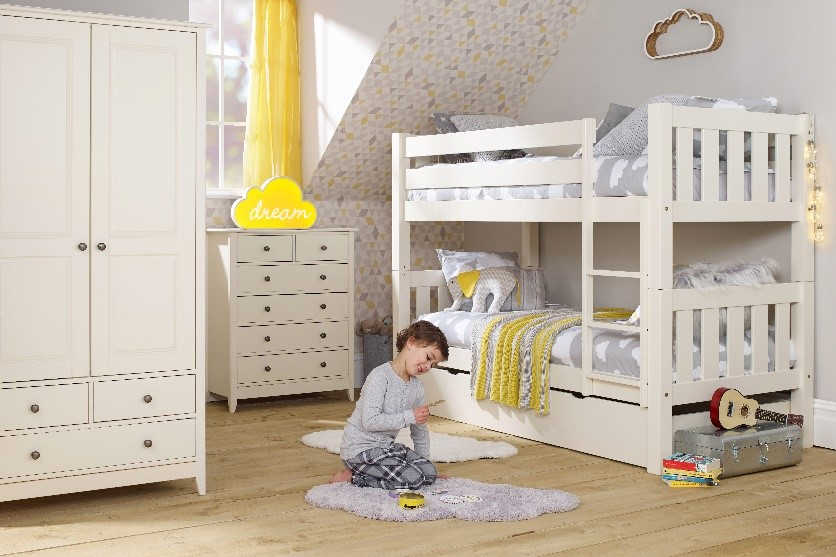 Bunk beds are perfect for space deprived children's bedrooms