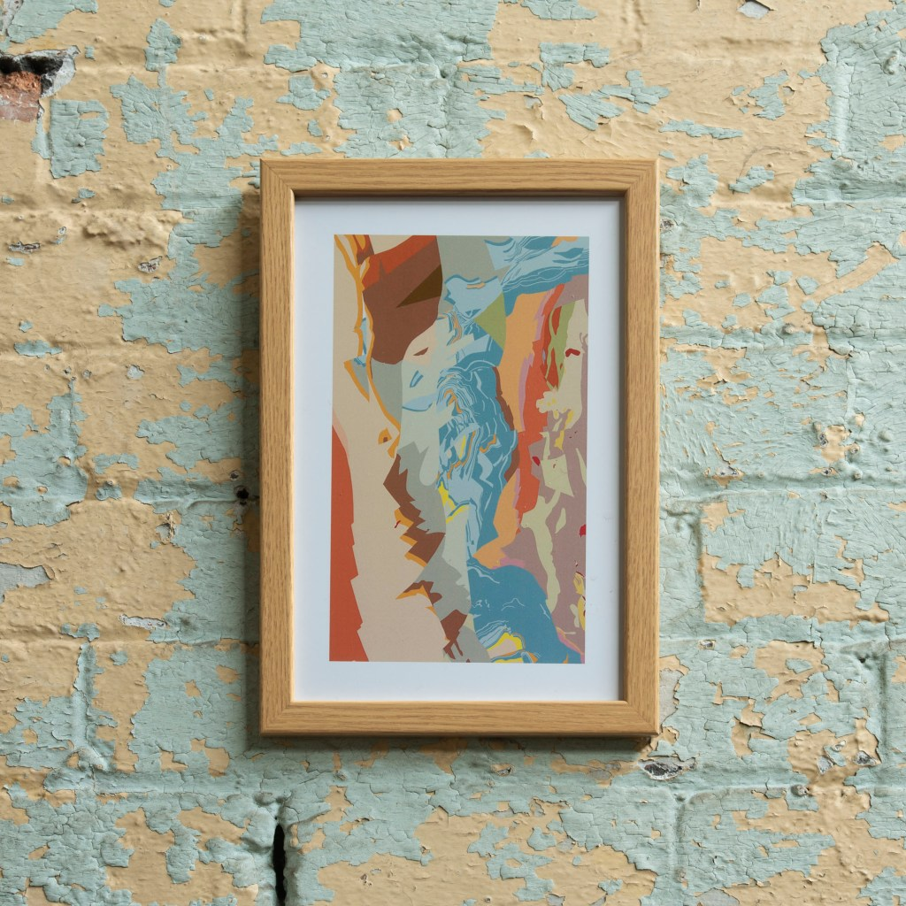 Geological survey map rejuvenated into an Art Map work of art