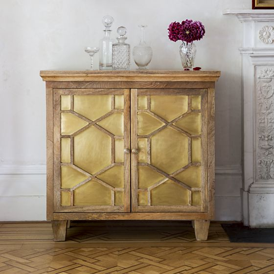 Stunning art deco style sideboard with beautiful brass inlay