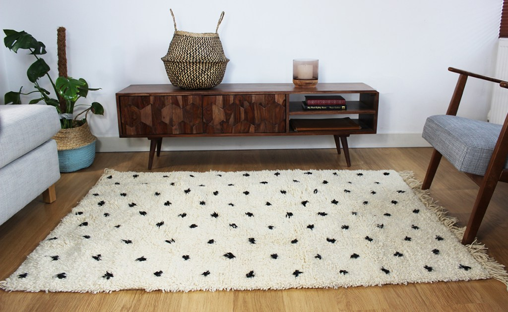 The Jamal Berber rug from Harfi, a specialist in artisan made Moroccan rugs