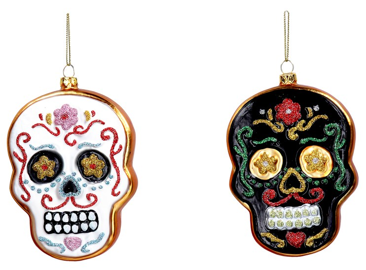 Day of the dead skull Halloween party decorations