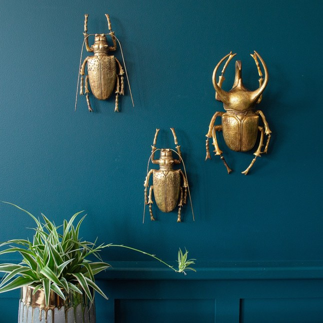 Aren't these cool? These gold beetles are the perfect addition to your creepy Halloween party decorations