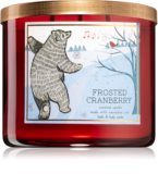 Gorgeous frosted cranberry candle