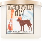 Burn this candle for the seasonal home scent of toasted vanilla chai