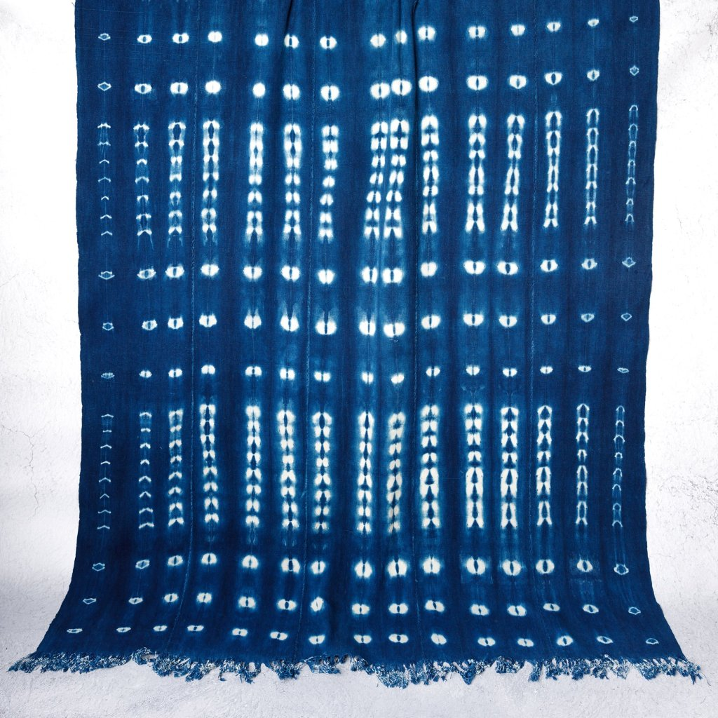 Classic blue colour throw, the Pantone colour of 2020
