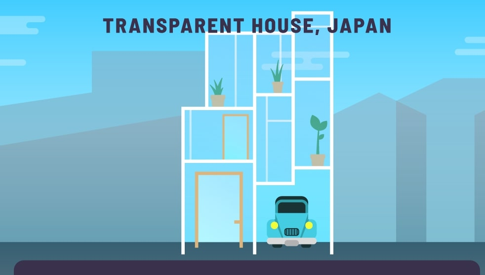 The transparent house was built in Japan