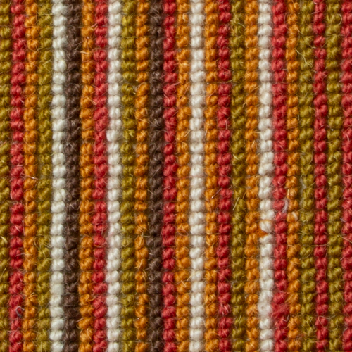 Umber orange stripe designer carpet