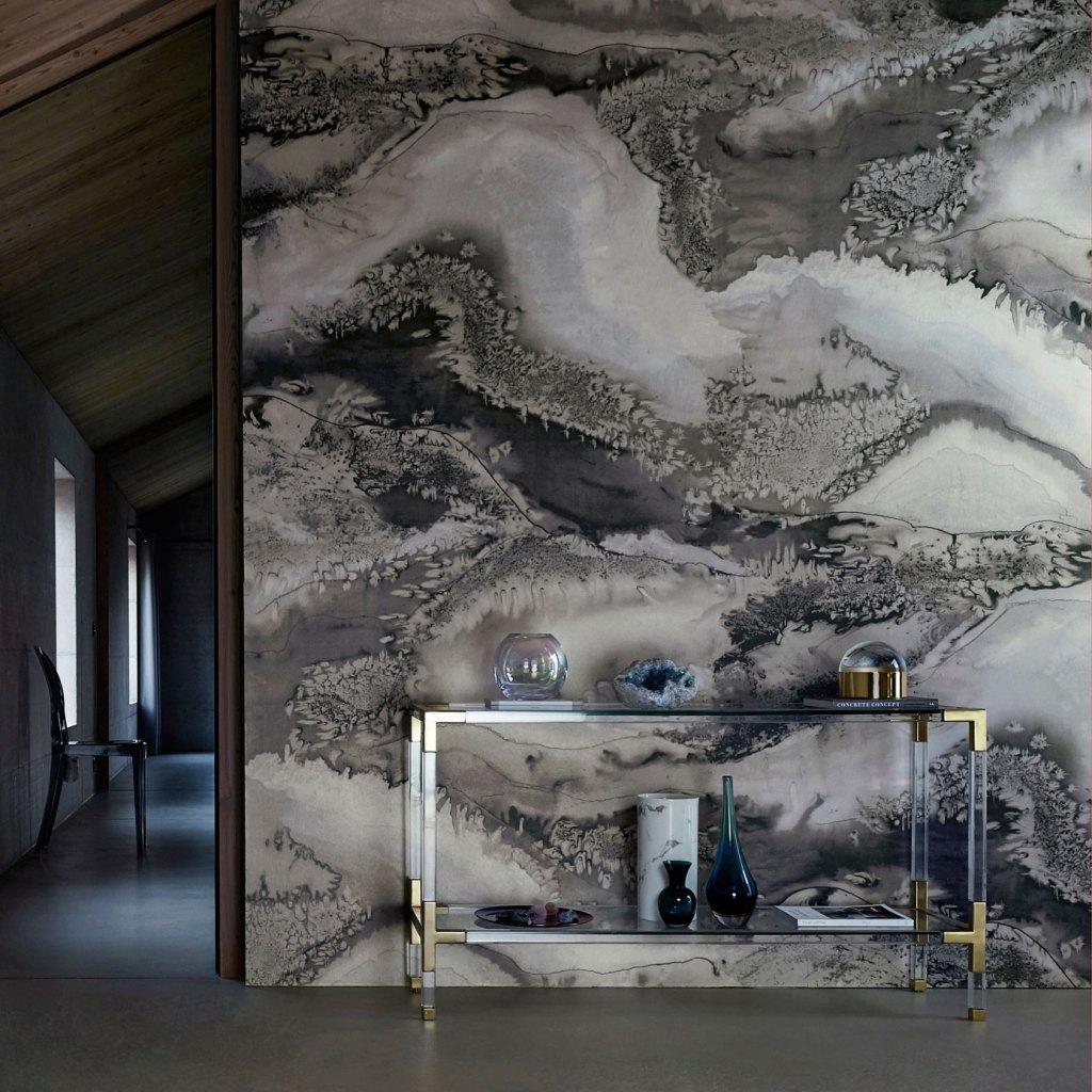 Anthology Obsidian wallpaper panel