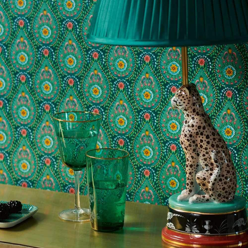 Add a statement to your walls with this Persian Print design wallpaper. It's full of colour, design and Eastern promise.