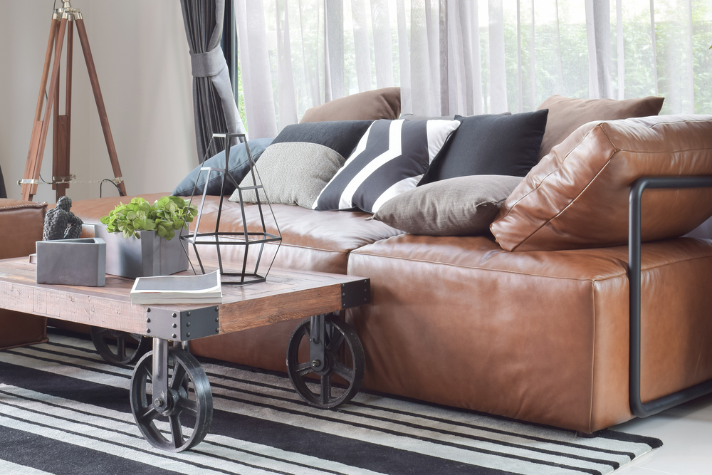 Leather sofas are generally easier to clean than fabric upholstery