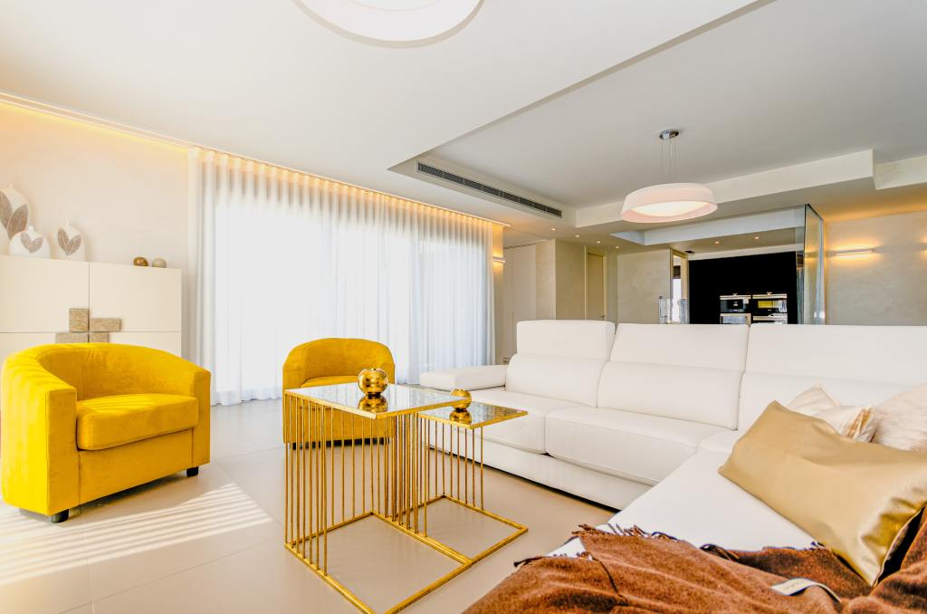 Add a pop of colour to your interior with fresh yellow
