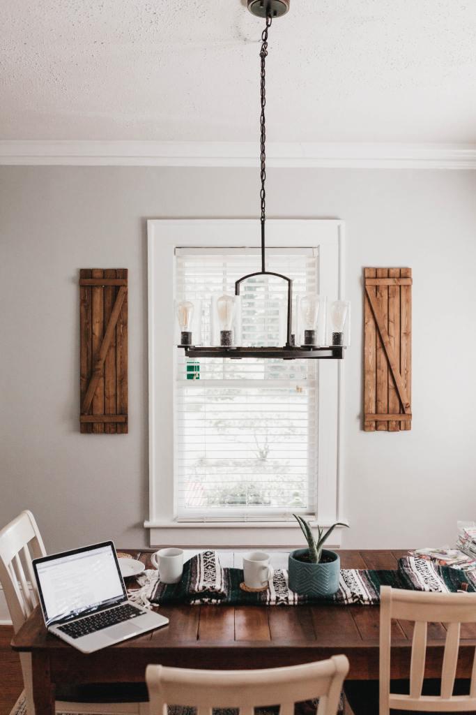 Farmhouse style decor for a home office
