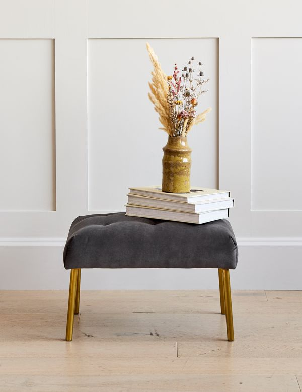 Kensington footstool, Rose & Grey