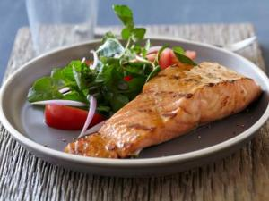 Bobby Flay salmon with brown sugar and mustard glaze recipe