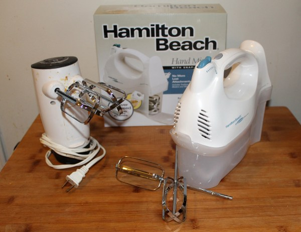 old hand mixers replaced with new Hamilton Beach hand mixer