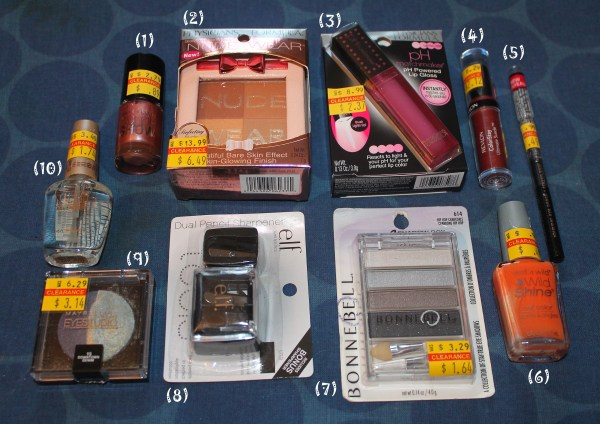 Clearance makeup bargain finds at Discount Drug Mart beauty products
