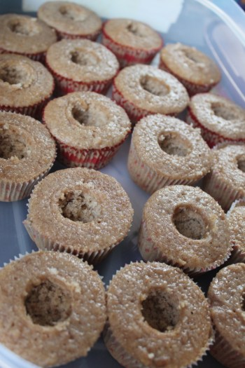 hollow graham cracker cupcakes for filling with marshmallow cream