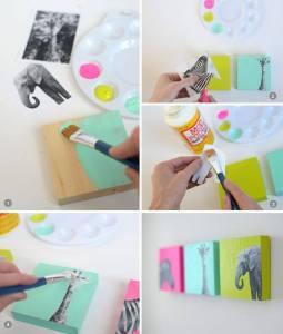 modge podge diy painting craft