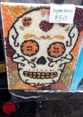 Cleveland Ohio Hessler Street Fair bean sugar skull art vendor summer festival