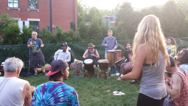 Cleveland Ohio Hessler Street Fair drum circle